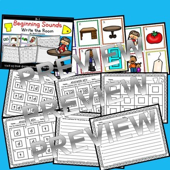 Beginning Sounds (T and D) Write the Room