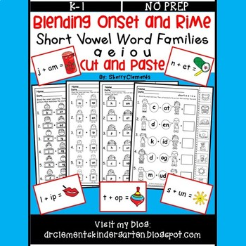 Blending Onset and Rime (Short Vowel Word Families) (a e i o u)