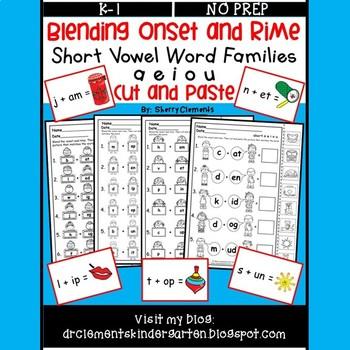 Blending Onset and Rime (Short Vowel Word Families) (a e i o u)