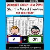 Blending Onset and Rime (Short a Word Families) (Cut and Paste)