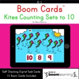 Boom Cards™ Kites Counting Sets to 10 Distance Learning