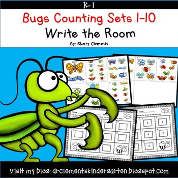 Bugs Write the Room (Counting Sets 1-10)