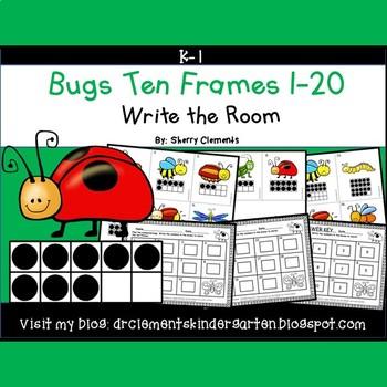Bugs Write the Room (Ten Frames 1-20)