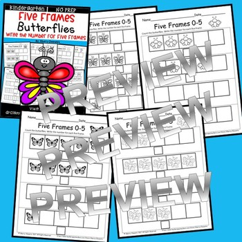Butterflies (Five Frames)