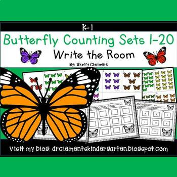 Butterfly Write the Room (Counting Sets 1-20)