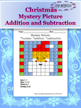 Winter Activities - Math Mystery Picture