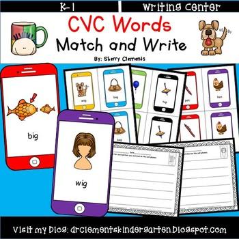 CVC Words Match and Write