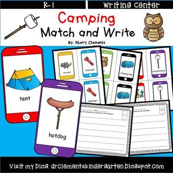Camping Match and Write