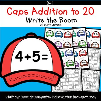 Caps Addition to 20 Write the Room
