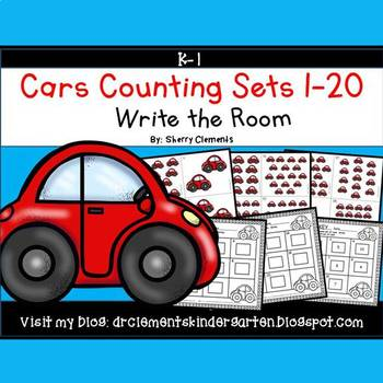 Cars Write the Room (Counting Sets 1-20)