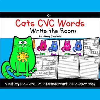 Cats Write the Room (CVC Words)