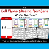 Cell Phone Write the Room (Missing Numbers 0-10)