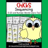 Chicks Sequencing 0-20 and Number Words (zero-ten)