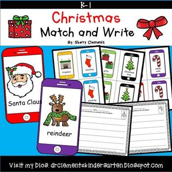 Christmas Match and Write