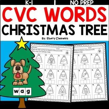 Christmas Tree CVC Words (Write the Word)