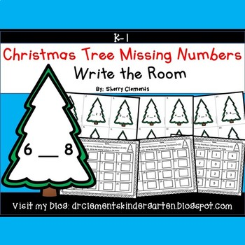 Christmas Tree Write the Room (Missing Numbers 0-10)
