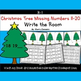 Christmas Tree Write the Room (Missing Numbers 11-20)