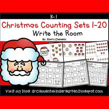 Christmas Write the Room (Counting Sets 1-20)