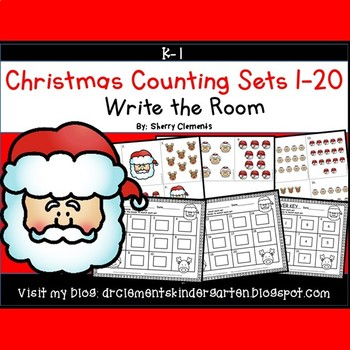 Christmas Write the Room (Counting Sets 1-20)