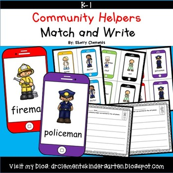 Community Helpers Match and Write