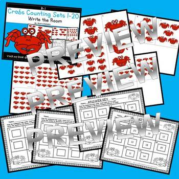 Crabs Write the Room (Counting Sets 1-20)