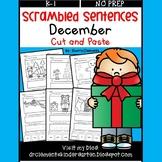December Scrambled Sentences (Cut and Paste)