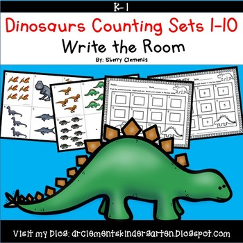 Dinosaurs Write the Room (Counting Sets 1-10)