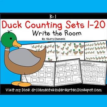 Ducks Write the Room (Counting Sets 1-20)