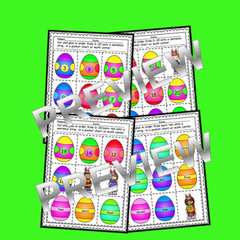Easter Egg Sequencing 0-20 and Number Words (zero-ten)