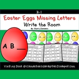 Easter Eggs Write the Room Missing Letters