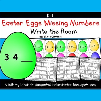 Easter Eggs Write the Room (Missing Numbers 0-10)