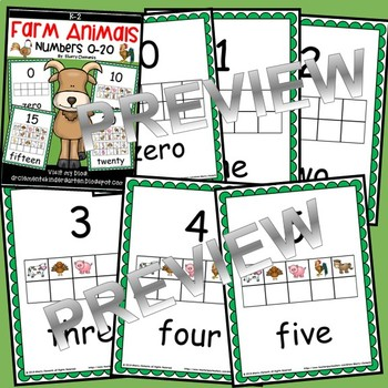 Farm Animals Numbers 0-20