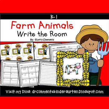 Farm Animals Write the Room