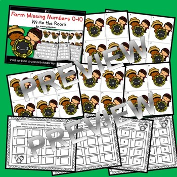 Farm Write the Room (Missing Numbers 0-10) (Set 1)