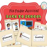File Folder Activities Back to School Theme
