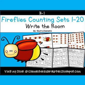 Fireflies Write the Room (Counting Sets 1-20)