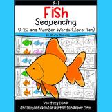 Fish Sequencing 0-20 and Number Words (zero-ten) Set 1