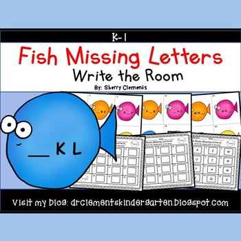 Fish Write the Room (Missing Letters)