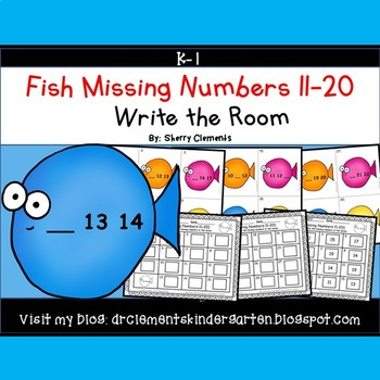 Fish Write the Room (Missing Numbers 11-20)