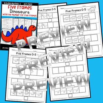 Dinosaur Five Frames