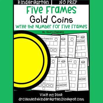 Gold Coins Five Frames