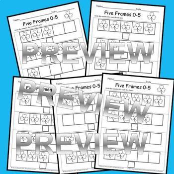 Shamrocks Five Frames (Write the number for the five frame)