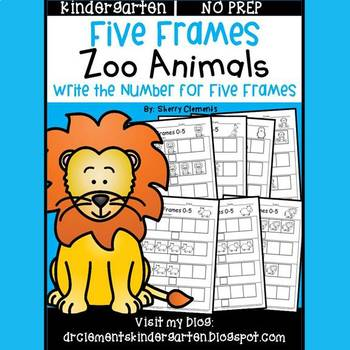 Zoo Animals Five Frames