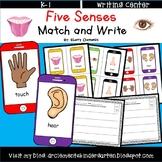 Five Senses Match and Write