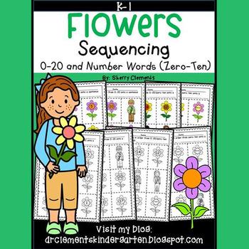 Flowers Sequencing 0-20 and Number Words (zero-ten)