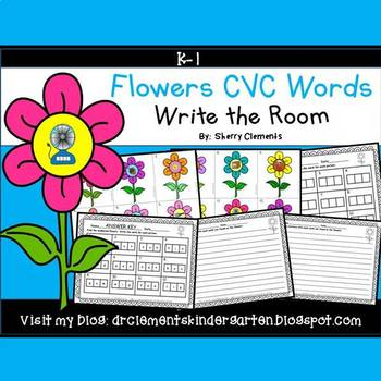 Flowers Write the Room (CVC Words)