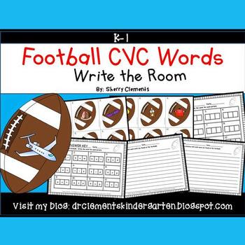 Football Write the Room (CVC Words)