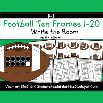 Football Write the Room (Ten Frames 1-20)