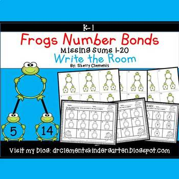 Frogs Write the Room Number Bonds (Missing Sums 1-20)
