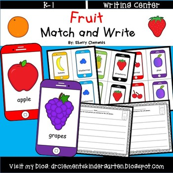 Fruit Match and Write